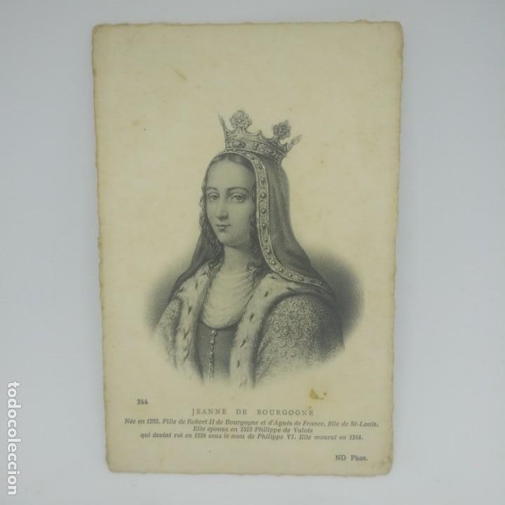 Postales: Jeanne de Bourgogne (v. 1293-1349) Postal antigua. Preciosa impresión. 244 - Foto 2 - 154135138