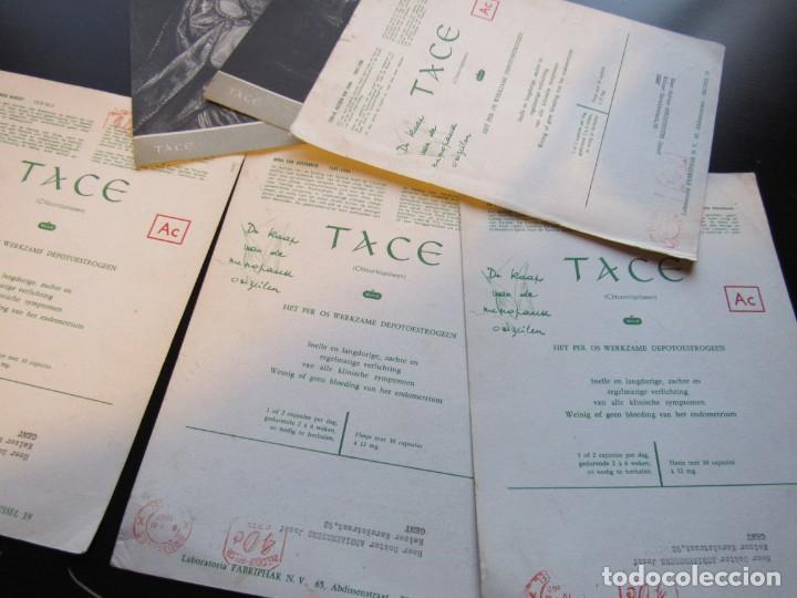 Postales: LOTE: 6 POSTALES CIRCULADAS DE UN LABORATORIO FARMACEUTICO BELGA, DESTINADO A UN DOCTOR, AÑO 1960. - Foto 2 - 155966614