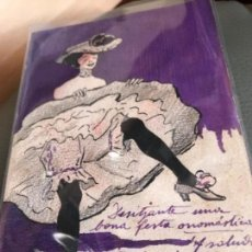 Postales: 1905 PINTADA A MANO. Lote 156710134