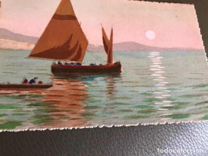 PINTADO A MANO (Postales - Postales Temáticas - Dibujos originales y Grabados)