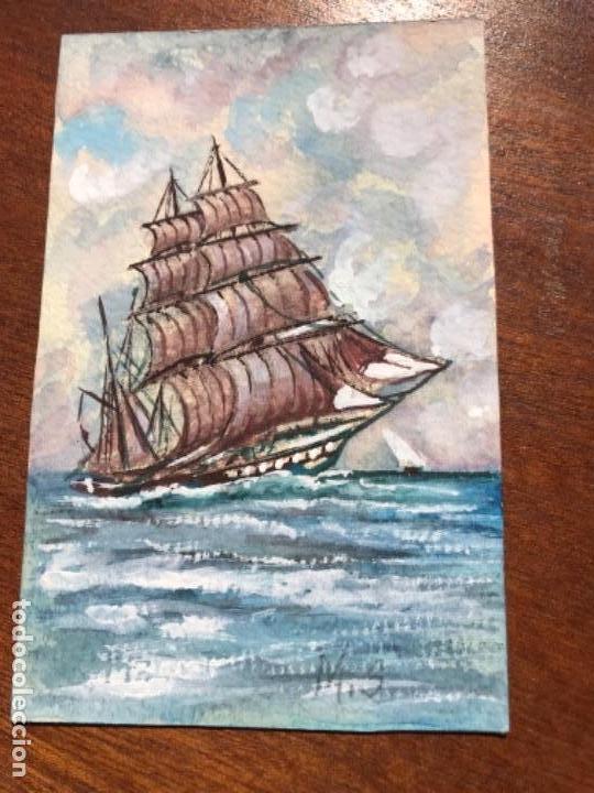 MS PINTADO A MANO (Postales - Postales Temáticas - Dibujos originales y Grabados)