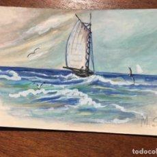 Postales: MS PINTADO A MANO. Lote 156714566
