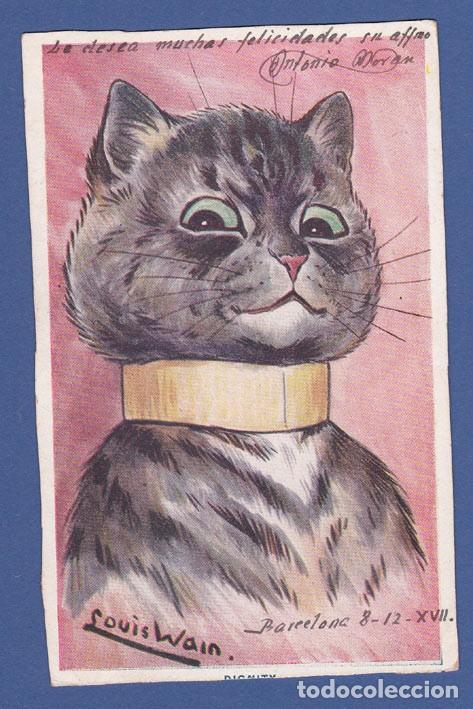 AD825 ANIMALES GATO GATOS ILUSTRADOR LOUIS WAIN ANIMALES HUMANIZADOS (Postales - Postales Temáticas - Dibujos originales y Grabados)
