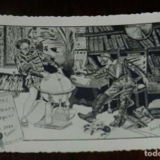 Postales: POSTAL DE EL QUIJOTE, ILUSTRADA POR EDUARDO GALER EN 1943, SIN CIRCULAR. Lote 161329226