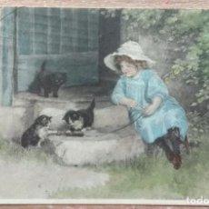 Postales: POSTAL DE 1915 DIRIGIDA A LA CONOCIDA EMMA BOUHON NEVES. Lote 162419598