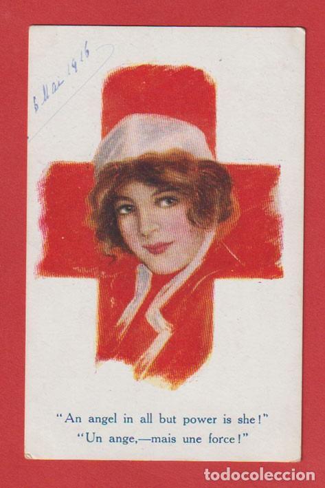 AE708 CRUZ ROJA INFERMERA GUAPA I° GUERRA MUNDIAL 1916 (Postales - Postales Temáticas - Dibujos originales y Grabados)