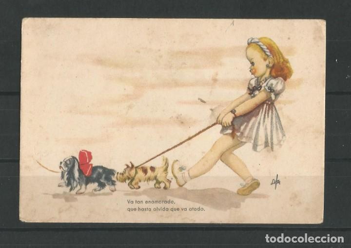 Postales: Antiguas dos postales dibujadas coloreadas. Una de ellas aventuras de Mari- Pili. - Foto 3 - 162963894