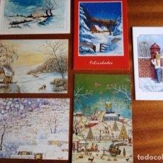 Postales: POSTALES PINTADAS CON LA MANO Y LA BOCA. LOTE 6. Lote 163765330