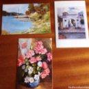 Postales: POSTALES PINTADAS CON LA MANO Y LA BOCA. LOTE 3. Lote 163765566