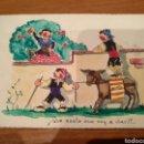 Postales: POSTAL DIBUJO ORIGINAL FIRMA LINA.. Lote 165763182