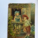 Postales: ANTIGUA TARJETA POSTAL - 1909 ALEMANIA - NIÑOS - PRINTED IN GERMANY. Lote 165843682