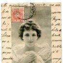 Postales: POSTAL ILUSTRADA ( MUJER ) M.M. VIENNE Nº 177 REVERSO SIN DIVIDIR. CIRCULADA. Lote 166155650