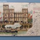 Postales: POSTAL CROMOLITOGRAFICA EXPOSIC UNIVERSAL PARIS 1900 PABELLON REAL DE ESPAÑA CIRCUL 1904 REV SIN DIV. Lote 167118484