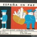 Postales: POSTAL SIN CIRCULAR DIBUJO ESPAÑA EN PAZ SERVICIO POSTAL AÑO 1962 - EDICION ESPECIAL 25 AÑOS PAZ. Lote 167126016