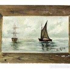 Postales: POSTAL PINTADA A MANO FIRMADA POR M. GODÓ. REVERSO SIN DIVIDIR. , ESCRITA 1910. Lote 170207144