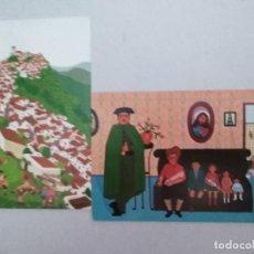 Postales: 21599 - 2 POSTALES - CRISTINA BORONDO - RETRATO DE FAMILA - MALAGA-CASARES. Lote 170518056