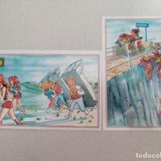 Postales: 21600 - 2 POSTALES - DIBUJOS ANIMADOS - ESCUDO DE ORO - Nº 1 - 3. Lote 170518164