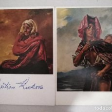 Postales: 21606 - 2 POSTALES - KRISTIAN KREKOVIC - MADRE DE AYAVIRI - VISION SECULAR (LAGO TITICACA). Lote 170518932