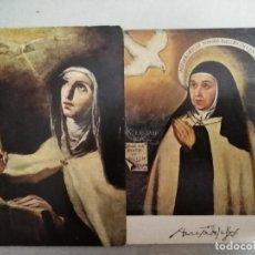 Postales: 21607 - 2 POSTALES - SANTA TERESA DE JESUS - VELAZQUEZ - FR. JUAN DE LA MISERIA. Lote 170519008