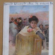 Postales: TARJETA POSTAL CIRCULADA EN 1904 - CREACIONES FEMINAS: EL SANTO DE LA ISIDRA - SELLO DE 10 CTS.. Lote 171063865
