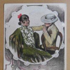 Postales: TARJETA POSTAL CIRCULADA C'1903 - DIBUJO: CARLOS VAZQUEZ - ED. S. CALLEJA-MADRID - SELLO DE 10 CTS. . Lote 171064733