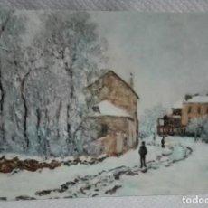 Postales: CLAUDE MONET ( NEIGE A ARGENTEUIL). Lote 171635509