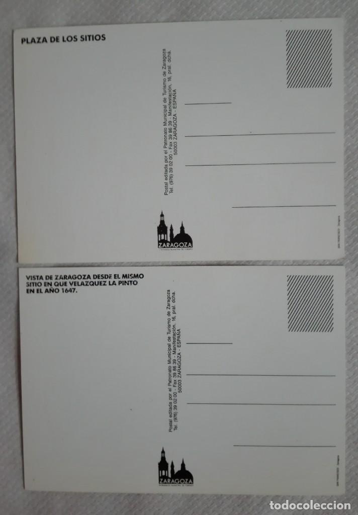 Postales: 2 postales los sitios de zaragoza años 90 - Foto 2 - 171635947
