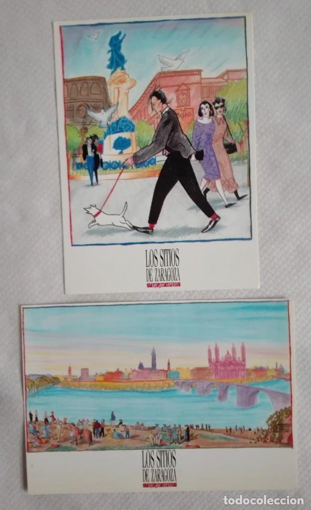 Postales: 2 postales los sitios de zaragoza años 90 - Foto 4 - 171635947