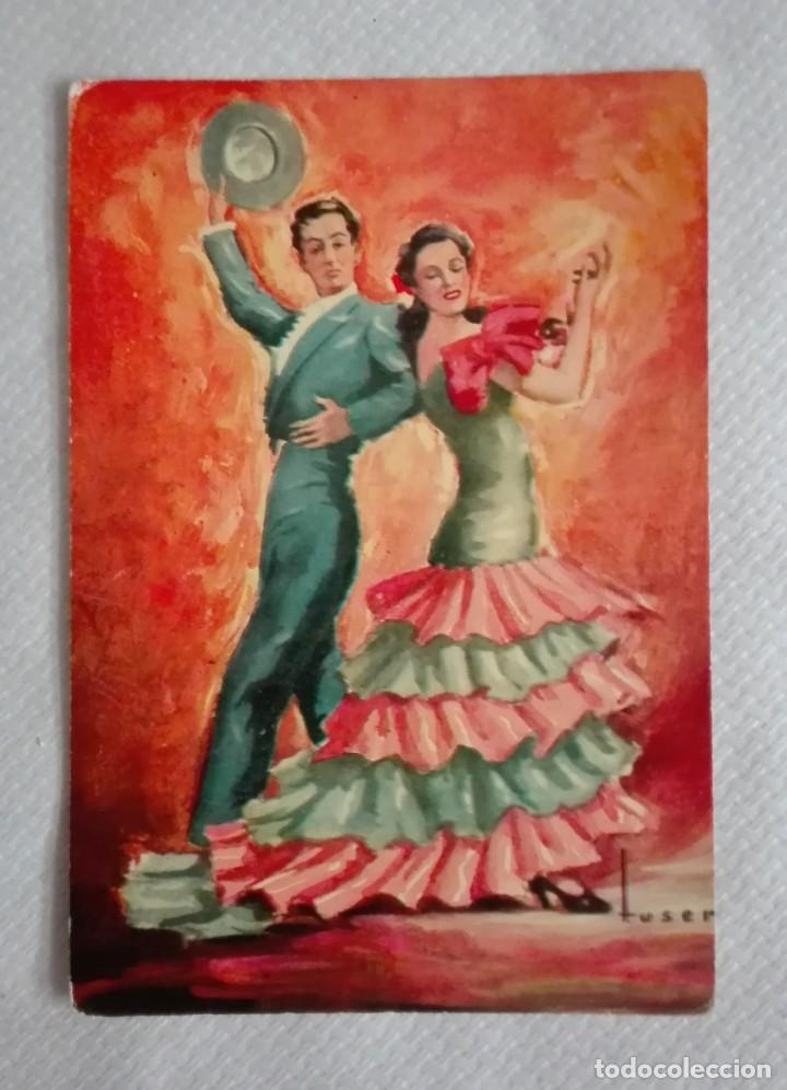 Postales: TRES POSTALES TRAJES ANDALUCES DE OBRAS DE JOSE MARIA TUSER AÑOS 60 - Foto 4 - 171656222