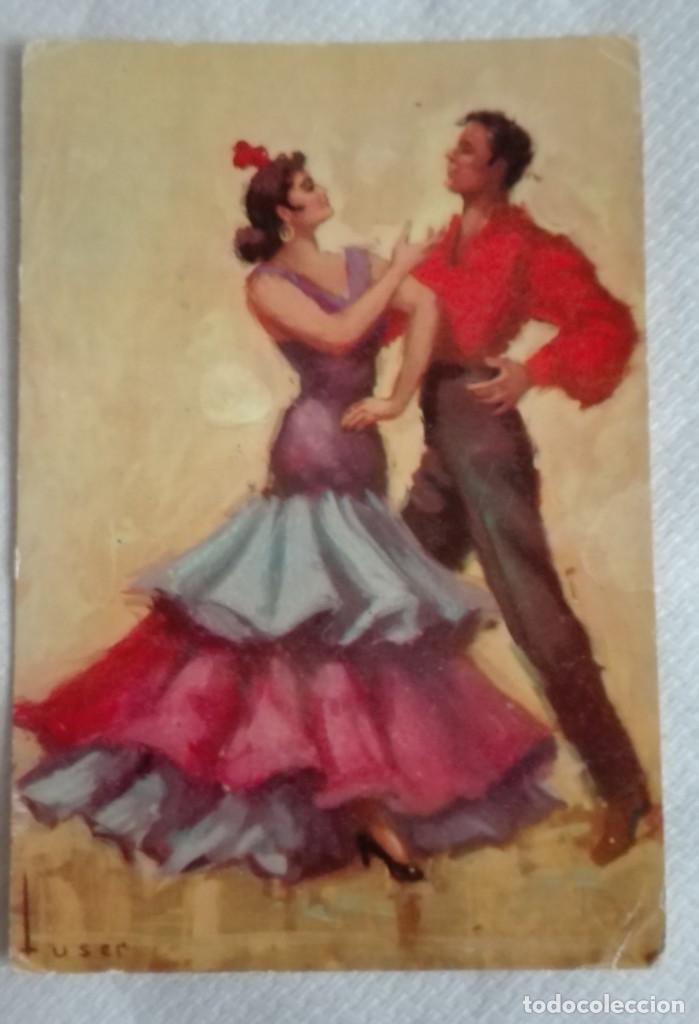 Postales: TRES POSTALES TRAJES ANDALUCES DE OBRAS DE JOSE MARIA TUSER AÑOS 60 - Foto 5 - 171656222