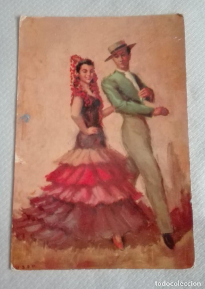 Postales: TRES POSTALES TRAJES ANDALUCES DE OBRAS DE JOSE MARIA TUSER AÑOS 60 - Foto 6 - 171656222