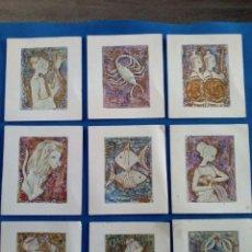 Postales: LOTE 9 TARJETAS POSTALES ITALIANAS DE HORÓSCOPOS. Lote 171740698