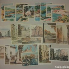 Postales: POSTALES. DIBUJOS ACUARELA, ARCHIVO DE ARTE, CIUDADES (SITGES, BARCELONA, MALLORCA, MADRID). LOTE 23. Lote 171746214