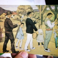 Postales: POSTAL JOSÉ ARRUE VALLE ENTRANDO A LA IGLESIA. Lote 172245808