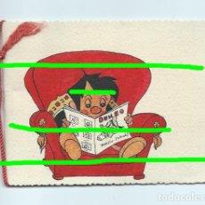 Postales: FELICITACIÓN. CARTULINA CON DIBUJO ORIGINAL, COLOREADO. REVISTA INFANTIL DUMBO.. Lote 175732942