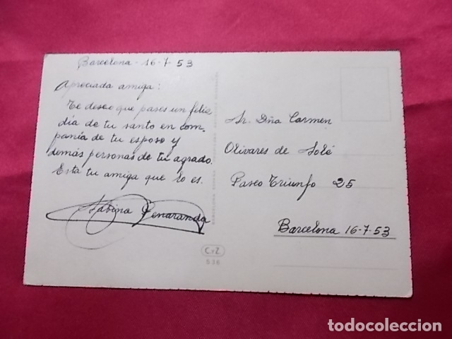 Postales: ANTIGUA POSTAL.FELICIDADES. COLECCIÓN C Y Z SERIE 536. C. VIVE - Foto 2 - 176868900