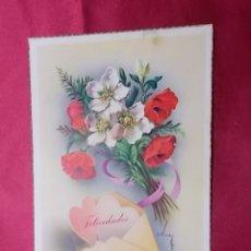 Postales: ANTIGUA POSTAL.FELICIDADES. COLECCIÓN C Y Z SERIE 550/A. C. VIVE. Lote 176869028