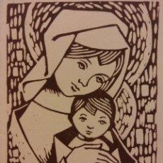 Postales: TARJETA NAVIDEÑA. VIRGEN MARIA Y EL NIÑO. DÍPTICO. NUEVA. Lote 178952386