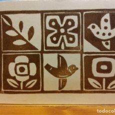 Postales: TARJETA FLORES Y AVES. DÍPTICO. NUEVA. Lote 178952512