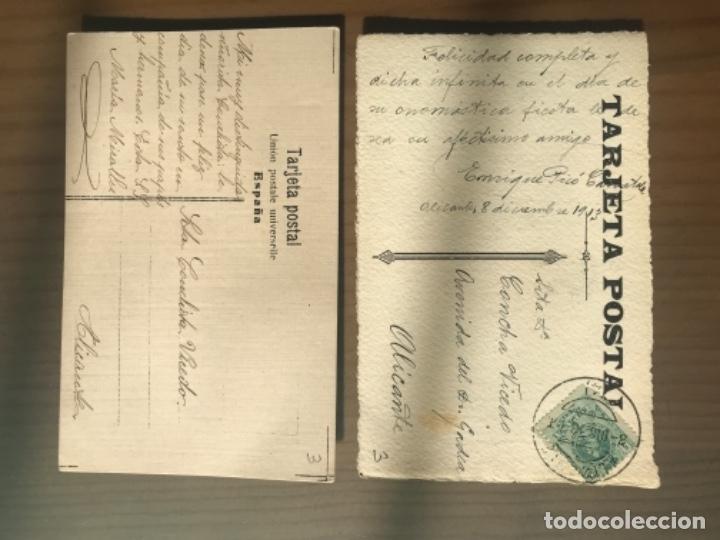 Postales: ANTIGUAS POSTALES ACUARELAS DIBUJO MODA RAMON PICO 1911 - Foto 2 - 181171467
