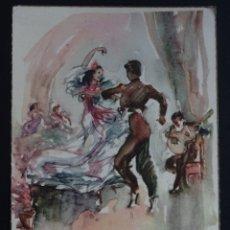 Postales: ANTIGUA POSTAL LA COLECCIÓN BAILE ESPAÑOL - FANDANGO POR P. CLAPERA. Lote 182786327