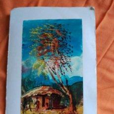 Postales: POSTAL PINTADA A MANO ARTISTA CALLEJERO GABON AFRICA. Lote 183655871