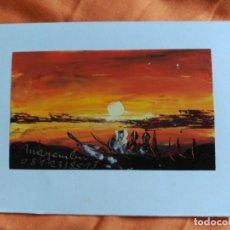 Postales: POSTAL PINTADA A MANO ARTISTA CALLEJERO GABON AFRICA. Lote 183657030