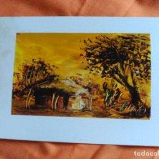 Postales: POSTAL PINTADA A MANO ARTISTA CALLEJERO GABON AFRICA. Lote 183657608