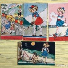 Postales: LOTE DE 4 POSTALES MARÍA CLARET, ESCRITAS AL REVERSO. Lote 184356501