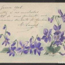 Postales: FIRMADA *M. LANGET* FECHADA 1 ENERO 1902. CIRCULADA.. Lote 198592
