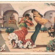 Postales: POSTAL DANSE ANDALOUSE - SEGUIDILLAS - ESCENAS ANDALUZAS COLECCION A -EDIT. ARTIGAS. Lote 187474762