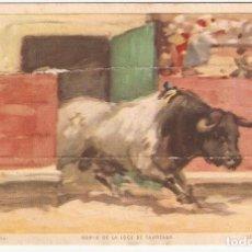 Postales: POSTAL CORRIDA DE TOROS 12 - JDP VALENCIA - SALIDA DEL TORIL. Lote 187477231
