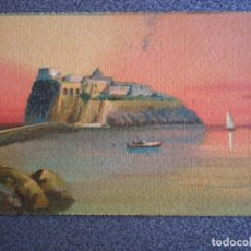Postales: POSTAL AL ACUARELA, CASTELLO DE ISCHIA NAPOLES ITALIA POSTAL AÑO 1930. Lote 189181611
