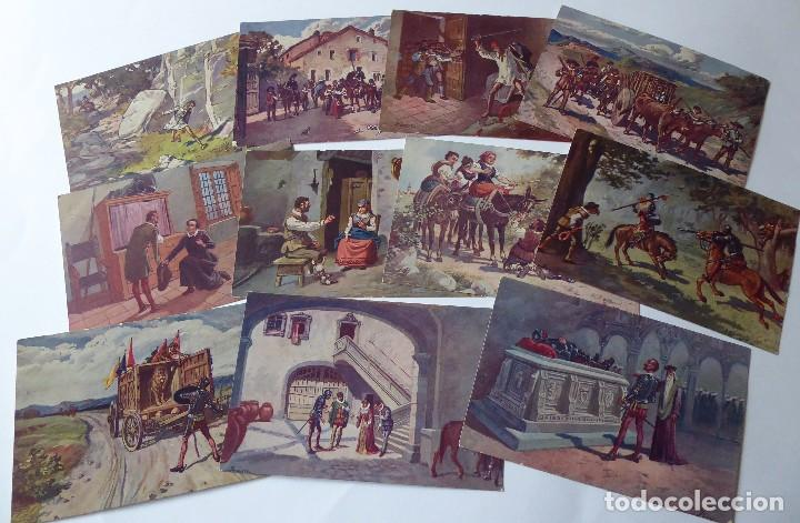 Postales: P-9837. POSTALES DON QUIJOTE DE LA MANCHA. COLECCIÓN COMPLETA DE 25 POSTALES. AÑOS 20. SIN CIRCULAR. - Foto 4 - 192273252